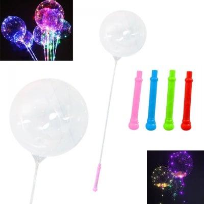 Светещ балон с LED светлини на пръчка, на батерии, COSMOPOLIS