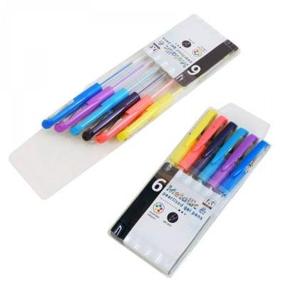 Цветни неонови гел химикали /6 броя в опаковка/