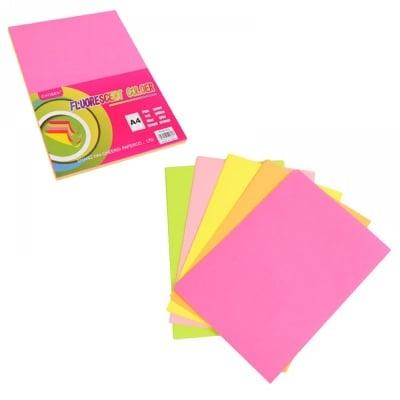 Цветни неонови листи А4