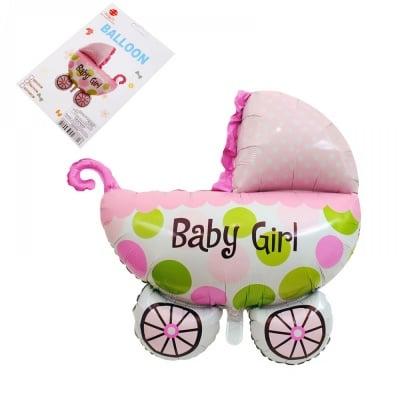 "Балон - бебешка количка ""Baby Girl"" /розов/"