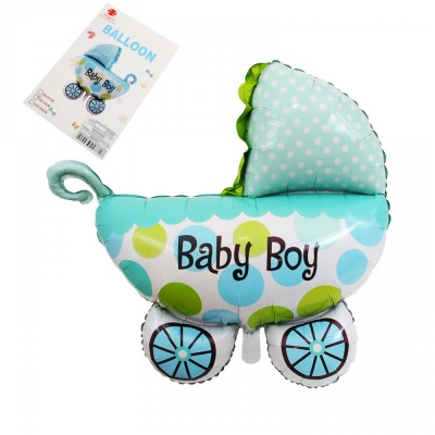 "Балон - бебешка количка ""Baby Boy"" /син/"
