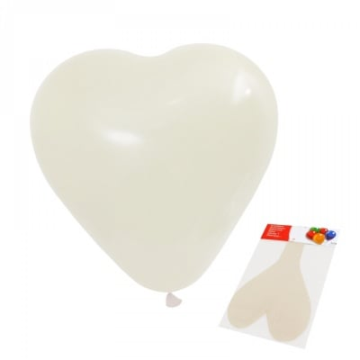 """Балон - Гигант """"Сърце"""" /бял/"""