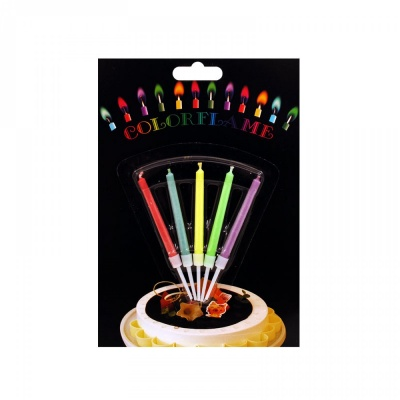 "Свещички с цветен пламък ""Happy Birthday' /5 броя/"