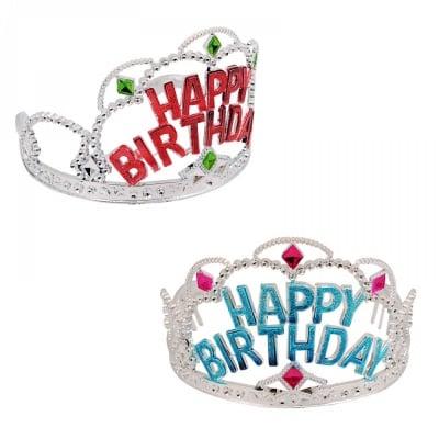 Коронка HAPPY BIRTHDAY /12 броя в стек от цвят/