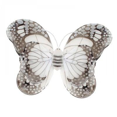 """Парти 3D крила """"Пеперуда"""" /бял/"""