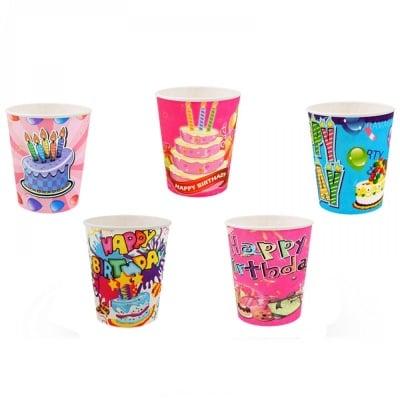 Пъстроцветни парти чашки * 10 броя