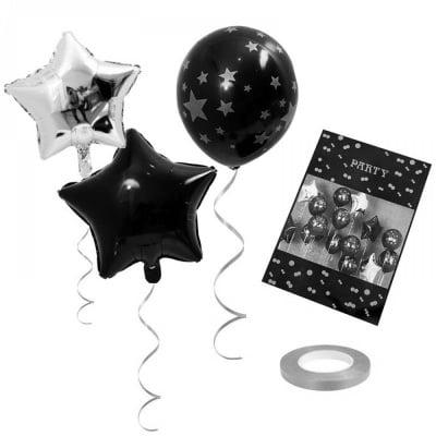 "К-кт Балони ""Звезди"" 15 броя /сребристи/"