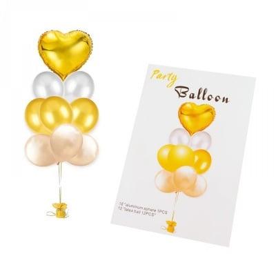 Комплект балони от фолио Сърце * 13 броя