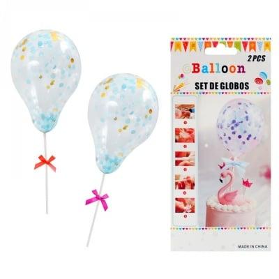 Балони - Декорация за торта /2 броя/