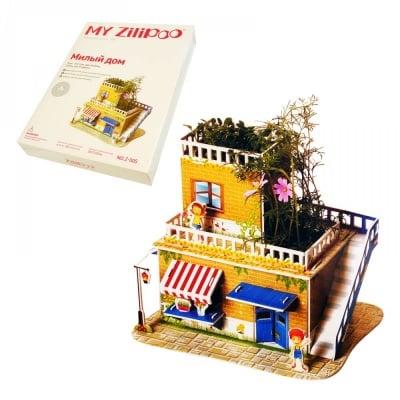 """3D пъзел """"Сладък Дом"""" с жива градина"""
