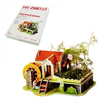 """3D пъзел """"Къща на дъгата"""" с жива градина"""