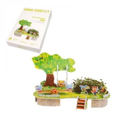"""3D пъзел """"Горска полянка"""" с жива градина"""