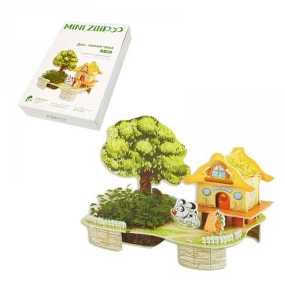 """3D пъзел """"Къща - пълна кутия"""" с жива градина"""