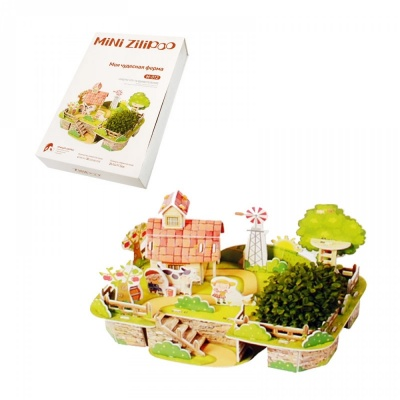 """3D пъзел """"Моята чудесна ферма"""" с жива градина"""