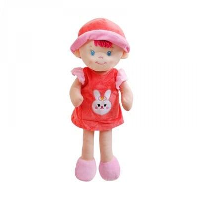 Кукла - текстил /червен/