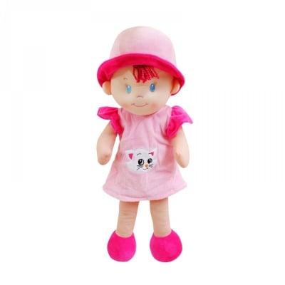 Кукла - текстил /розов/