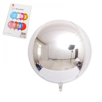 """Балони """"Сфера"""" - фолио /сребро/"""