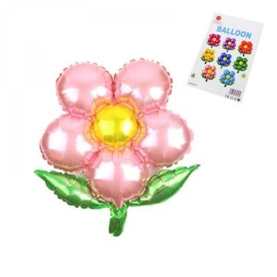"""Балони """"Цвете"""" - фолио /розов/"""