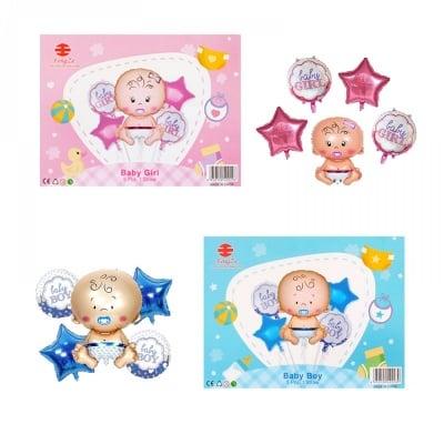 Луксозен комплект балони Baby Girl / Boy /фолио/
