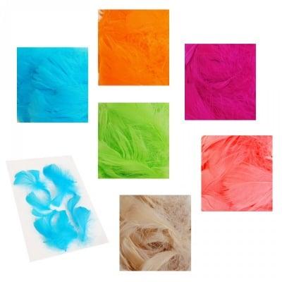 Цветни пера /100 броя в опаковка/