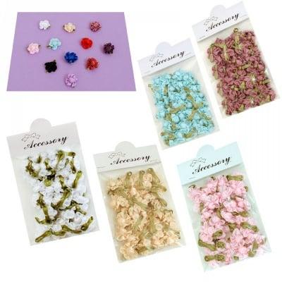 Цвете с листенца - мини /текстил/