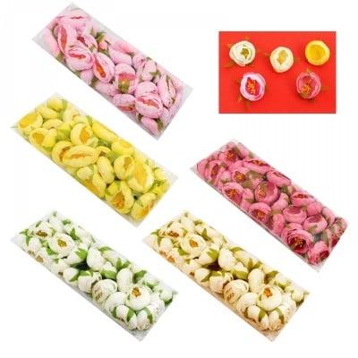 Рози - големи - текстил /30 броя на телче/