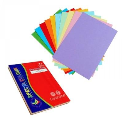 Цветен картон /100 листа - микс/