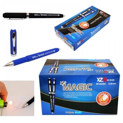 Магическа гел писалка с гума /триещ се/