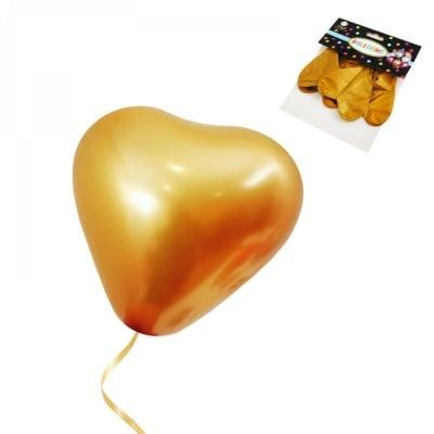 Балони - Хром Сърце /златист/