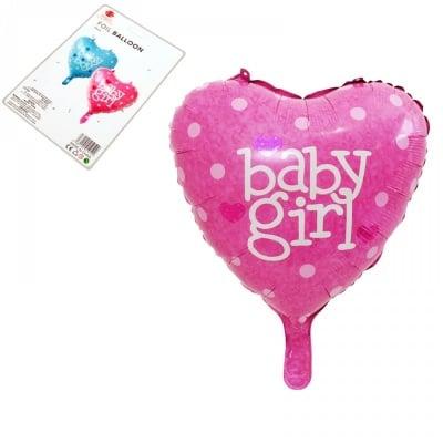 Балон - Сърце Girl /розов/