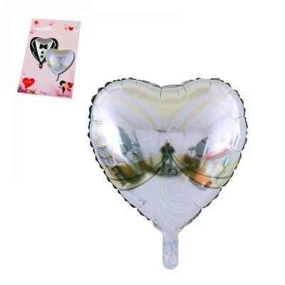 Балон - сърце Булка /бял/