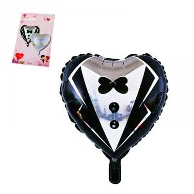 Балон - сърце Младоженец /черен/