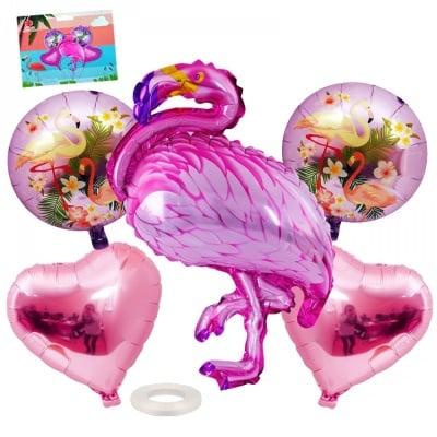 Луксозен комплект балони Фламинго