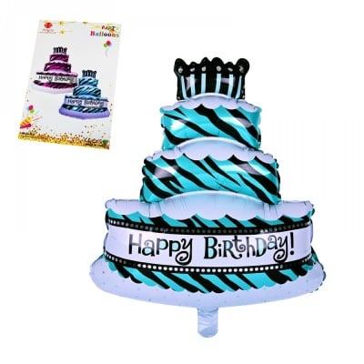 Балон - Торта Happy Birthday /син/
