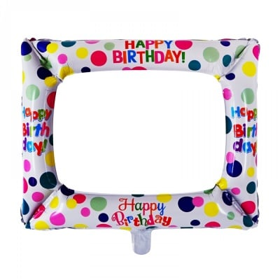 Балон Фоторамка Happy Birthday /фолио/