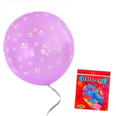 Балони Лапички - микс от 7 цвята /100 броя/