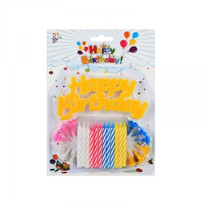 Свещички Happy Birthday /12 броя/