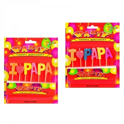 Свещички I LOVE PAPA