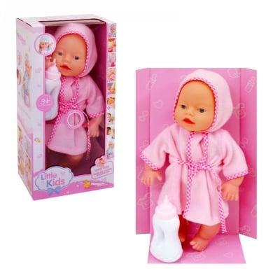 Пишкащо бебе с халатче и шише