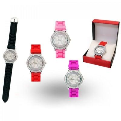 Стилен дамски часовник в луксозна кожена кутия, COSMOPOLIS