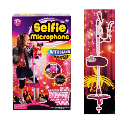 Микрофон на стойка с МР3 и селфистик, COSMOPOLIS