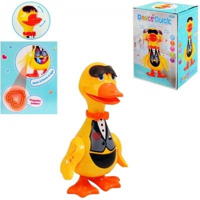 Танцуващ паток с проектор