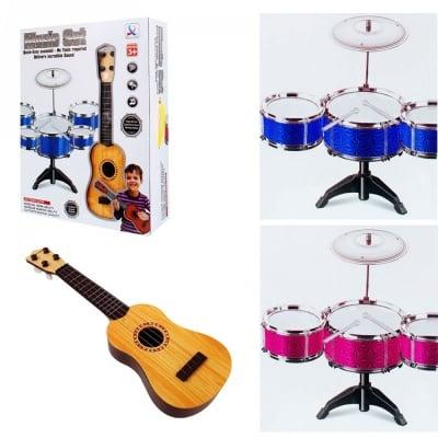 Комплект китара с барабани на стойка
