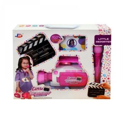 Комплект Малък репортер - камера с микрофон /розов/