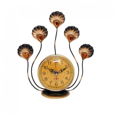 Настолен часовник Паун