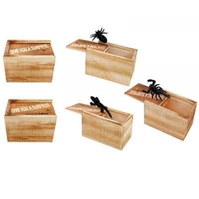 Дървена кутия с насекомо
