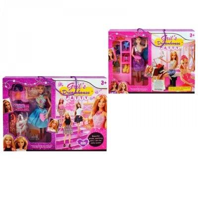 К-кт 2 кукли с гардероб, рокли и аксесоари