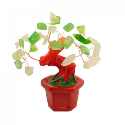 Дърво на Щастието с камъчета Нефрит - символ на здраве, богатство и просперитет