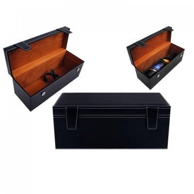 Кутия за бутилка от кожа, 36х16х13 см