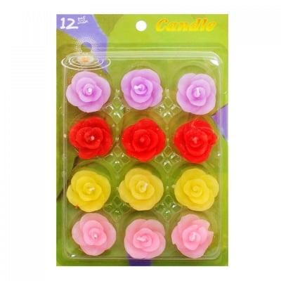 Плаващи свещи Цветя - 12 броя